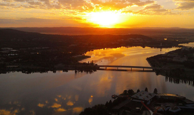 Sunrise over Lake Burley Griffin